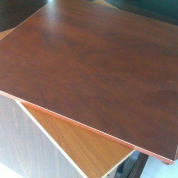 black melamine paper laminated embossed MDF Wood 5-19